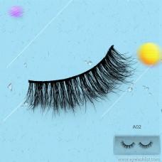 3D mink eyelashes wholesale A02 handmade false eyelashes 1 pair of false eyelashes sharp eyelashes