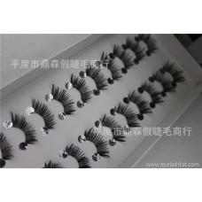 False eyelashes manufacturers wholesale half eyelashes 10 pairs H33 large size customizable LOGO popular beauty tools
