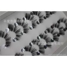 False eyelashes manufacturers wholesale half eyelashes 10 pairs of H36 large amount can be customized LOGO popular beauty tools