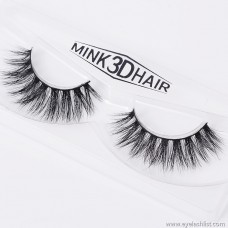 Cross natural false eyelashes 3D mink hair false eyelashes A14 natural luxury realistic factory direct wholesale