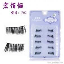 F02 new handmade natural half eyelashes black stem natural long long fake eyelashes factory direct wholesale