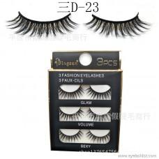 DINGSEN false eyelashes manufacturers wholesale eyelashes three pairs of three D stereo eyelashes three D-23 can be set LOGO