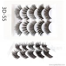 DINGSEN false eyelashes manufacturers wholesale 3D stereo eyelashes 5 pairs of popular simulation eyelashes three D-46 styles