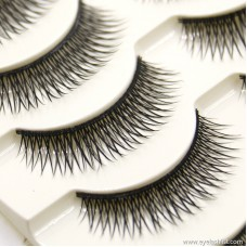 Hot handmade false eyelashes Cotton stalk eyelashes natural nude makeup cross hand eyelashes wholesale