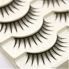 Factory direct handmade artificial eyelashes natural nude makeup long handmade eyelashes wholesale