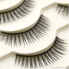 Natural new eyelashes wholesale handmade cotton stems natural nude makeup eyelashes long hand eyelashes