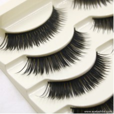 Hot nude makeup new eyelashes Japanese beauty handmade natural cotton thread eyelashes factory wholesale