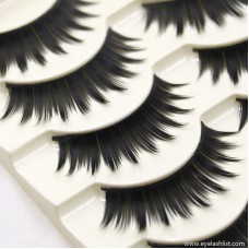 Factory direct sales hot explosions handmade cotton stalks eyelashes natural nude makeup cross eyelashes wholesale