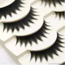 Exaggerated natural thick hand handmade natural cotton line eyelashes Japanese women's factory direct sales