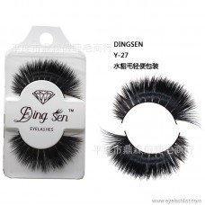 DINGSEN false eyelashes manufacturers wholesale false eyelashes Y-27 mink hair light packaging popular beauty tools