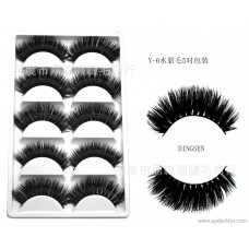 DINGSEN false eyelashes manufacturers wholesale false eyelashes water eyelashes eyelashes a box of 5 pairs of Y-6 thick models
