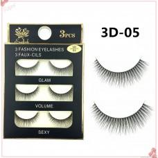 3D-05 three-dimensional multi-layer 3D natural nude makeup transparent stem false eyelashes 3d thick false eyelashes
