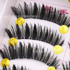 054 thick cross Taiwan handmade false eyelashes factory direct wholesale eye tail long high exaggeration