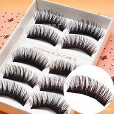 E03 Japanese 5 pairs of brown plus black thick cross messy exaggerated eyelashes spread manufacturers wholesale false eyelashes