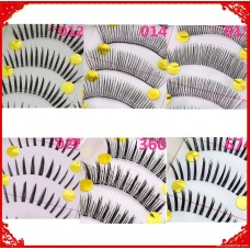 Handmade ten pairs of false eyelashes natural realistic nude makeup eyelashes foreign trade tail single quality clearance eyelashes wholesale price