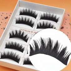 E20 manufacturers wholesale false eyelashes Japanese Harajuku 5 pairs of hard stalks thick cross messy explosion stage smoky makeup