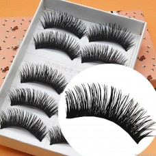 E02 manufacturers wholesale manual mechanism false eyelashes Japan Harajuku 5 pairs of long thick cross messy exaggerated explosion