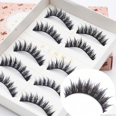 E08 factory wholesale mechanism false eyelashes Japan Harajuku 5 pairs of exaggerated cute high-end eyelashes mountain section