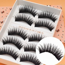 E01 Japanese 5 pairs loaded thick cross messy explosion stage smoked makeup manufacturers low-cost wholesale false eyelashes
