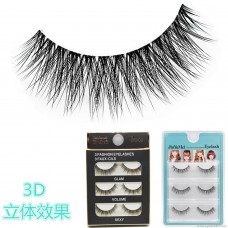 3D-20 wholesale realistic 3D stereo multi-layer false eyelashes natural thick cross messy short paragraph very soft