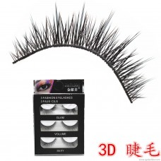 D02 soft stem pure hand lashes 3d simulation multi-layer thick natural long long eye tail long multi-layer false eyelashes