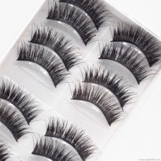 020 ten pairs of mechanism semi-manual false eyelashes hard stalks long thick models Europe and the United States export explosions manufacturers wholesale