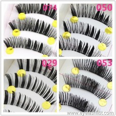 Eye tail lengthening natural realistic middle weighting soft transparent stem handmade ten pairs of false eyelashes manufacturers wholesale