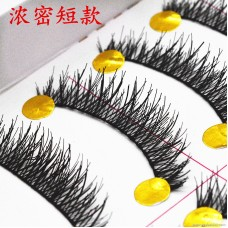 035 thick cross type Taiwan handmade false eyelashes factory direct wholesale eyelashes high exaggerated type