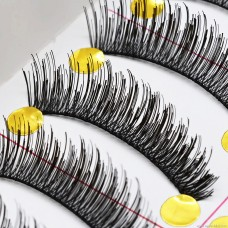 087 eye tail lengthening natural thick cross type handmade false eyelashes factory direct wholesale eyelashes high-end