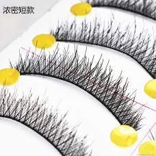 022 thick short paragraph ten pairs of handmade false eyelashes Natural cross section Japanese and American export eyelashes wholesale