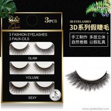 Cross-border supply 3D eye tail plus long eyelashes | artificial sharpening temperament models | handmade pairs of false eyelashes