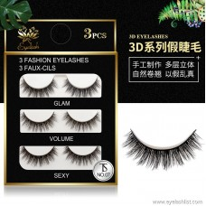 Factory wholesale 3D natural long eyelashes | simulation sharpening temperament models | Europe and America handmade pairs of false eyelashes
