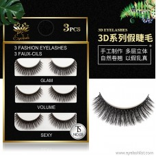 THINKSHOW3D thick eyelashes | artificial sharpening temperament models | handmade pairs of false eyelashes