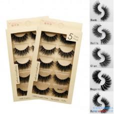 Cross-border new 3D mink hair soft false eyelashes natural style long slim eyelashes factory direct