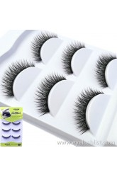 Shi Di Shangpin 3D False Eyelash Water Mane 3 Pairs Natural Fiber Long Eyelashes 3D-A106 [Short]