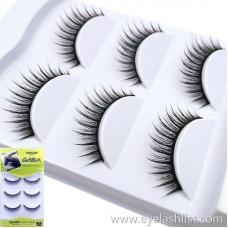 Shi Di Shangpin 3D False Eyelashes Water Mane 3 Pairs Natural Pointer Eyelashes 3D-A105 Multilayer