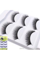 Shi Di Shangpin 3D False Eyelash Mink Hair 3 Pairs Natural Cross Eyelashes 3D-A104 Factory Wholesale