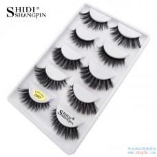 Shi Di Shang Pin Mixed 3d Mink Hair False Eyelashes 5 Pairs Thick Eyelashes Eyelashes