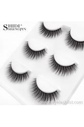 Shi Di Shangpin Eyelashes 3 Pairs 3D Water Mane Natural Naked False Eyelashes Cross-border E-commerce