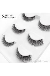Shi Di Shangpin 3D Mink Hair False Eyelashes Natural Eyetail Long Eyelashes 3D-X09 Cross-border Sources