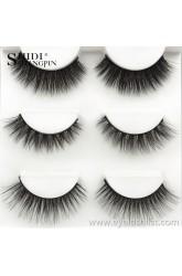Shi Di Shangpin 3d mink hair false eyelashes natural fiber long model eyelashes