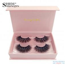 Cross-border supply new 3d mink eyelashes 2 pairs of natural thick fake eyelashes #8 factory wholesale