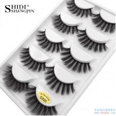Cross-border hot sale 3d mink hair false eyelashes 5 pairs of natural thick eyelashes G800 beauty tools