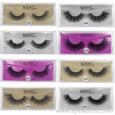 Shi Di Shang Pin 3d Mink Hair False Eyelashes 1 Pairs Natural Thick Eyelashes Cross-border Sources Hot Sale
