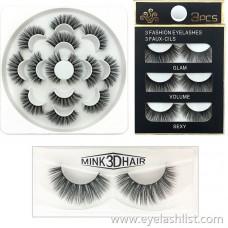 6D eyelashes Natural cross-dense false eyelashes paired three pairs of seven pairs of goods wholesale