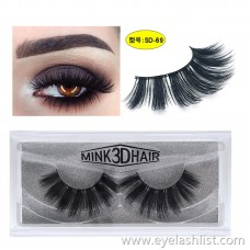 SD exaggerated imitation mink eyelashes 3D stereo 25 thick false eyelashes Europe and America selling mink lashes