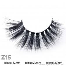 Z15 pair of false eyelashes handmade eyelashes wholesale 3D stereotypes false eyelashes beautifully packaged false eyelashes 15