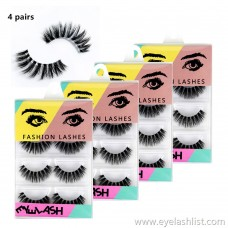37 four pairs of mane false eyelashes wholesale thick curl eyelashes processing custom fake eyelashes wholesale
