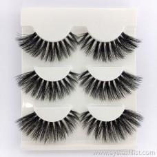 Thick Mane False Eyelashes Three Pairs No. 5 False Eyelashes Handmade Eyelashes Wholesale 3D Shaped False Eyelashes Eyelashes