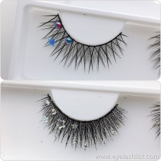 Stage false eyelashes short thick exaggerated hot sale exaggerated false eyelashes shiny false eyelashes foreign trade